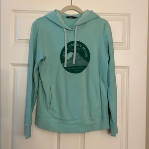 The North Face teal women's hoodie